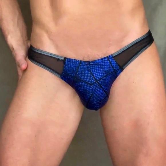 Men's Side Sheer Thong